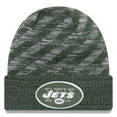 781366ea8ae Youth New York Jets New Era Green 2018 NFL Sideline Cold Weather TD Knit Hat