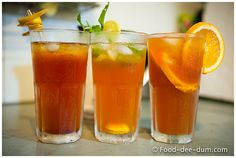 Easy step-by-step recipe with pictures for Homemade Iced Tea: 3 Ways. Try these as is or variate the flavours and garnishes to suit your taste. Rooibos Iced Tea Recipe, Iced Tea Recipes, Drink Recipes, Home Made Ice Tea, Iced Tea Brands, Lipton Ice Tea, Making Iced Tea, Vietnamese Dessert, Refreshing Summer Drinks