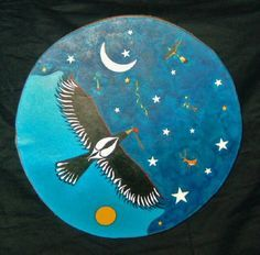 blue painted hand drum - Google Search