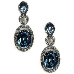 Givenchy Indian Sapphire and Crystal Drop Earrings #VonMaur