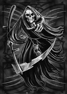 Death Grim Reaper Tattoo | The Grim Reaper - The origin of the famous tattoo and metal cover guy!