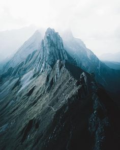 Foggy peaks endlessly stretching into the distance. I crave these