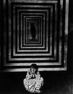 Film still from Thaïs (also known as Perfido Incanto), 1916. Directed by Anton Giulio Bragaglia and known to be the only surviving Futurist film. Based on the novel by Anatole France, and with set design by the Italian Futurist painter Enrico Prampolini.