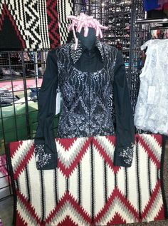 Beaded lace vest and Yucca Flats saddle pad