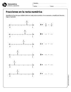 Fracciones en la recta numérica                                                                                                                                                     Más