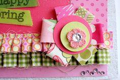 Studio Calico: Tutorial: Fabric Scraps! #flower