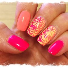 Faux water marble.