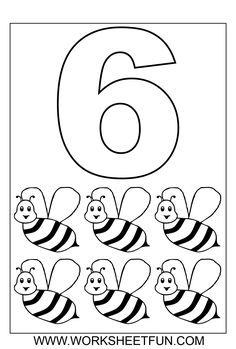 find this pin and more on rekenbegrippen en cijfers by margavanbreukel number six and wasp coloring pages - Coloring Pages Numbers 1 10