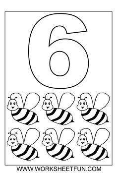 ... numbers number coloring page number 6 worksheet number worksheets