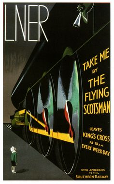 The Flying Scotsman (1920's poster by A. Thompson)