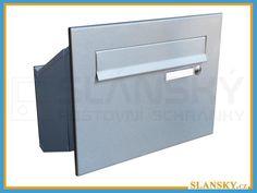 Poštovní schránka D-241 šikmá do sloupku + čelní deska se zvonkem - NEREZ | Poštovní schránky :: poštovní schránky a listovní schránky