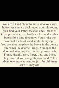 Percy Jackson........ This almost made me cry