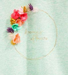 Imagen 4 de Sudadera corona flores de Zara