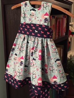 Dress for Lillian, 3T (Pattern is The Cottage Mama Party Dress http://thecottagemama.com/2014/03/party-dress-free-pattern-re-release/)