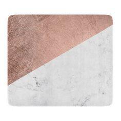 Cool modern white marble rose gold colour block cutting board