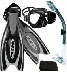 Amazon.com: Cressi Frog Plus Fins with Dive Mask Dry Snorke Set, (Scuba Snorkeling Freediving Spearfishing Dive Gear): Sports & Outdoors