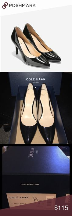FLASH SALE☀️ NIB Cole Haan Pump - Black Patent 9 Brand new, in-box Cole Haan Prieta Pump II - Black Patent Leather - Size 9! No longer available in a 9 on the Cole Haan website ❤️❤️❤️ Cole Haan Shoes Heels