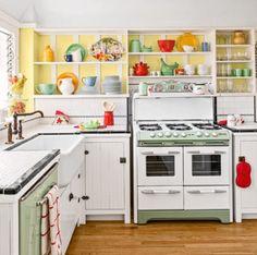 vintage kitchen jadeite fire king  via A Sort Of Fairytale