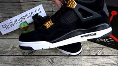 """official photos 3ccec 8f078 Authentic Air Jordan 4 """"Black Suede"""" from www sneakerjumpman ru"""