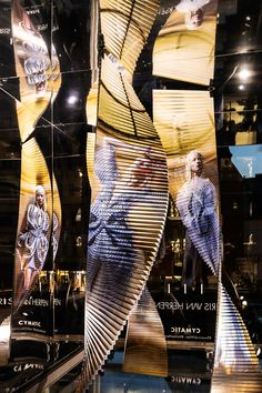"""Dutch designer Iris van Herpen enters unusual terrain in """"Cymatic,"""" a kinetic photo installation that explores the flow – and the disruption – of a dancing body and a piece of clothing. Originally from the world of fashion design, van Herpen's installations for the Swarovski Kristallwelten Store Wien use a wide variety of media to express the basic themes of movement and transformation. Swarovski Crystal World, Ten Year Anniversary, Iris Van Herpen, Shopping World, Art Director, World Of Fashion, Two By Two, Store Windows, Architecture"""