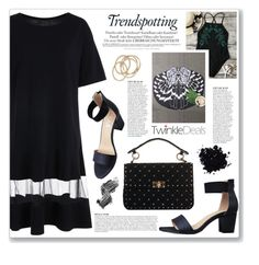 """lbd (twinkledeals100)"" by myduza-and-koteczka ❤ liked on Polyvore featuring Melissa, Anja, Valentino, Illamasqua and ABS by Allen Schwartz"