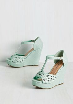 09be2705386 Faithfully Flirtatious Wedge. Rely on these mint platforms to perpetuate  your playful demeanor!