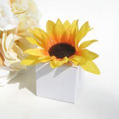Sunflower Topped Favor Box