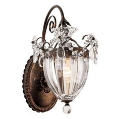 """Schonbek Bagatelle Collection 13"""" High Crystal Wall Sconce - Style # 29142"""