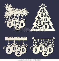 Find Laser Cutting Template Christmas Tree Hanging stock images in HD and millions of other royalty-free stock photos, illustrations and vectors in the Shutterstock collection. Thousands of new, high-quality pictures added every day. Ribbon On Christmas Tree, Christmas Paper Crafts, Christmas Tree Themes, Christmas Wood, Christmas Colors, Christmas And New Year, Christmas Stencils, Christmas Templates, Paper Lace