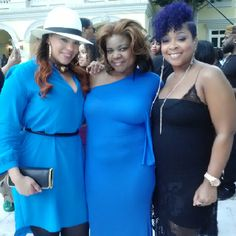 @Celeste Alexander in royal blue matching perfectly with Faith Evans and Monifah! #RandBDivas