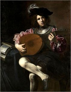 ♪ The Musical Arts ♪ music musician paintings - Valentin de Boulogne: The lute player