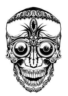 Skull. #skull #illustration