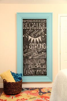 Build a Large Wall Frame for a Chalkboard or Mirror
