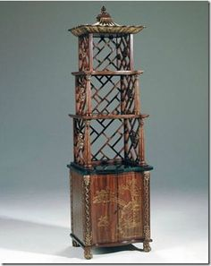 A very Chinoise etagere from Maitland-Smith