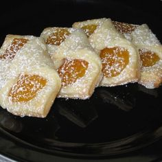 "These have also been named the ""Baby Jesus Cake"" 10 Eastern European Dessert Recipes That Will Knock Your Socks Off: Polish Kolaczki Recipe Polish Desserts, Polish Recipes, Just Desserts, Polish Food, Polish Nails, 3d Nails, Xmas Desserts, Polish Kolaczki Recipe, Easy Kolacky Recipe"