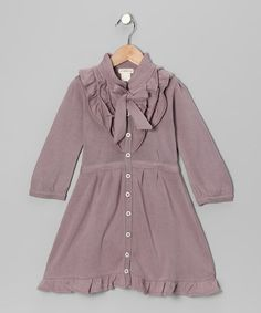 Take a look at this Quail Ruffle Organic Button-Up Dress - Infant, Toddler & Girls by Plum Bunny on #zulily today!