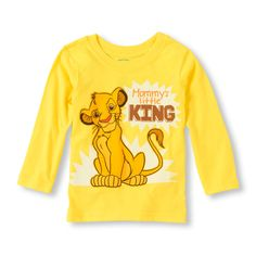Check out The Children's Place for a great selection of kids clothes, baby clothes & more. Shop at the PLACE where big fashion meets little prices! Baby Boy Tops, Baby Boy Shirts, Boys Shirts, Baby Kids, Lion King Nursery, Lion King Baby, Toddler Outfits, Baby Boy Outfits, Kids Outfits