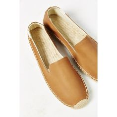 Soludos Leather Platform Espadrille Loafer (125 CAD) ❤ liked on Polyvore featuring shoes, loafers, tan, loafer shoes, platform shoes, tan leather shoes, leather espadrilles and soludos espadrilles