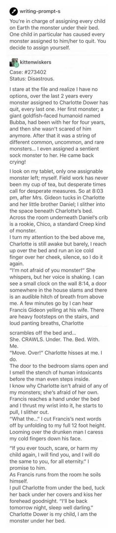 Not cute. This is f*cked up & way too relatable... Well written tho. I don't mean to disparage what the author has written. This is a real horror story.