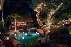 grotto pool with tiki hut