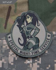 Special Night Morale Patch - ACU - Express your individuality with our collection of Morale Patches, Embroidered Patches, Velcro Morale Patches, Tactical Morale Patches, Military Morale Patches, and Humorous Morale Patches! Put them on all of your gear: Hats, Jacket, Fleece, Vests, and Backpacks! Get it at http://zuffel.com/collections/morale-patches/products/special-night-acu