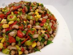 Dry Cowpea Salad Recipe - Kitchen in Kevser - Recipes Turkish Salad, Bean Salad Recipes, Appetizer Salads, Cooking Recipes, Healthy Recipes, Food Articles, Kidney Beans, Turkish Recipes, Summer Salads