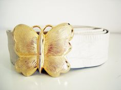 Vintage 80s belt with butterfl kle by Dotty by Vintagiality,