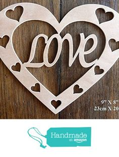 """Beautiful Large Sized Hand Crafted MDF 'Love Heart' Craft Shape - 9"""" X 8"""" x 9mm Thick from The Andromeda Print Emporium https://www.amazon.co.uk/dp/B01K7GRUI6/ref=hnd_sw_r_pi_dp_n3hRxb9V3G8BY #handmadeatamazon"""