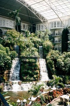 Opryland Hotel in Nashville, Tennessee. Been here. Loved it. Can't wait to go back.
