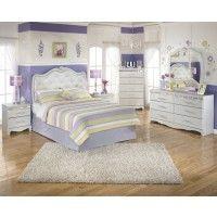 Zarollina Full Bed, Dresser & Mirror