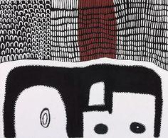 Lena Nyadbi / Hideout  150 x 180cm  Ochres