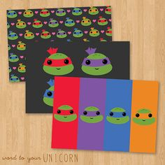Kawaii Teenage Mutant Ninja Turtles Cute by Wordtoyourunicorn, $9.00