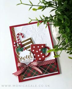 Stampin' Up UK Demonstrator Monica Gale, helps you unleash your creative side. Join me for inspiring projects and request a FREE catalogue Homemade Christmas Cards, Stampin Up Christmas, Christmas Cards To Make, Christmas Tag, Xmas Cards, Homemade Cards, Handmade Christmas, Holiday Cards, Christmas Crafts