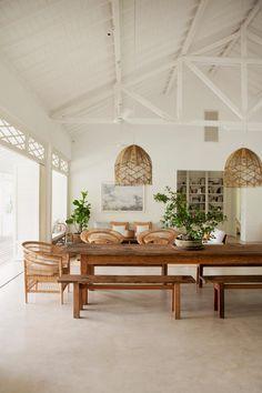Bali House, Vogue Living, Dining Room Inspiration, Home Decor Inspiration, Bali Style Home, Style Deco, Interior Decorating, Interior Design, Decorating Kitchen